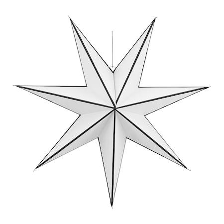 Julstjärna Stroke Ø 60 cm - Vit/svart