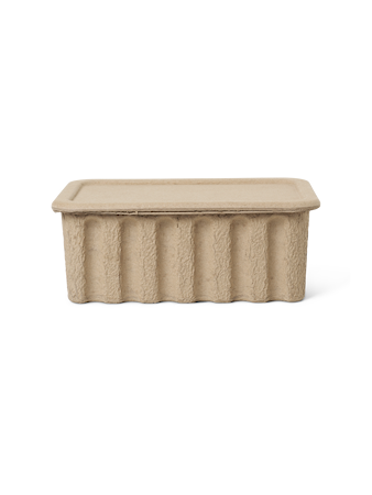 Paper Pulp Box Stor 2-pack Brun