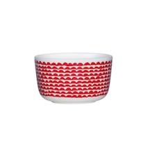 PAPAJO Skål 0,25 liter Vit/Röd