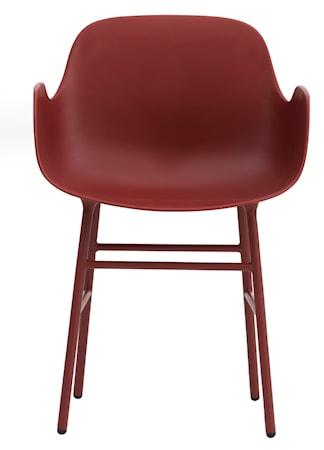 Normann Copenhagen Form Karmstol stål - Röd