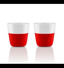 Glögg/Espressomugg Röd 80 ml 2 st