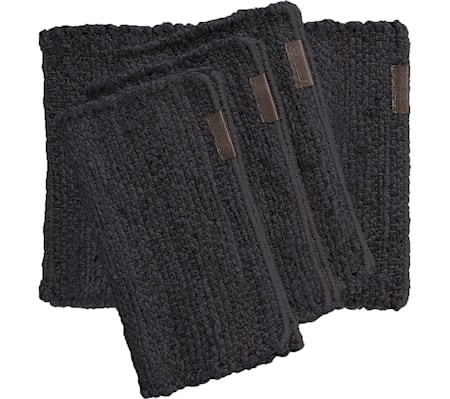 Hemp Dark Grey Bordsunderlägg 4-set