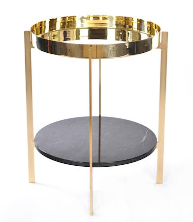 OX DENMARQ Deck sidobord - Brasstray/Black/brassframe