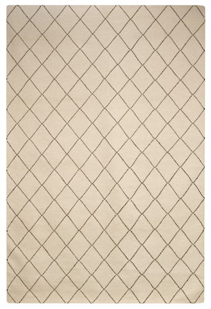Diamond Dhurry Matta Ull Brun/ Off White 184x280 cm