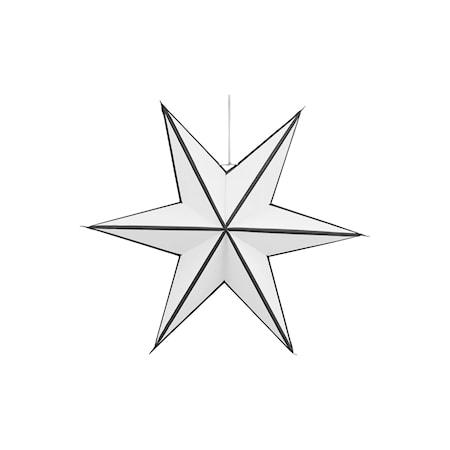 Julstjärna Stroke Ø 45 cm - Vit/svart