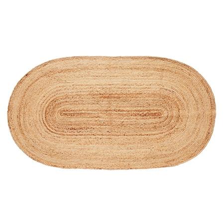 Jutematta Oval 100x200 cm