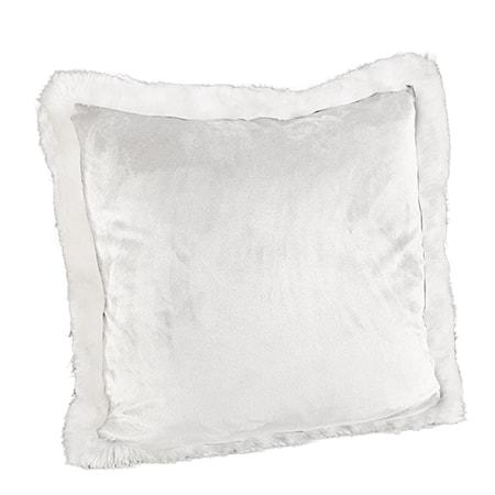 Leia White Velboa Kuddfodral 60x60 Vit