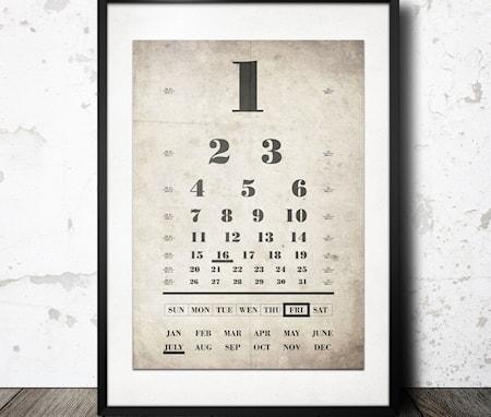 Bilde av Konstgaraget Eye chart poster