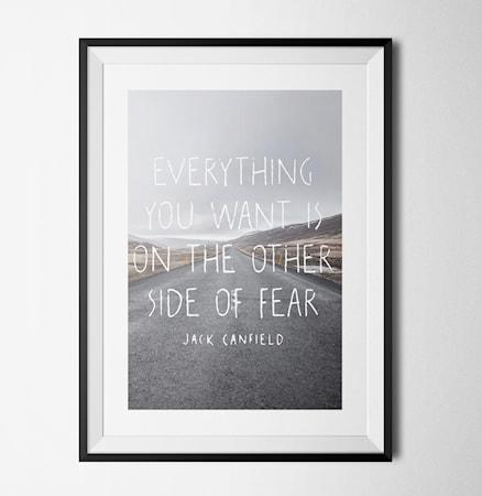 Bilde av Konstgaraget Fear poster