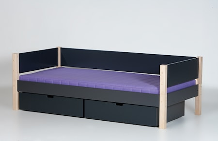 Manis-h Sif säng mörkgrå/bok - 90x160