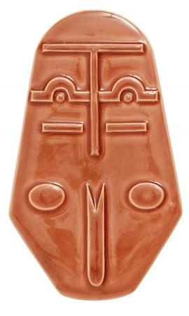 Bilde av ANSIKT Veggdekorasjon Keramikk 25cm Terracotta farget