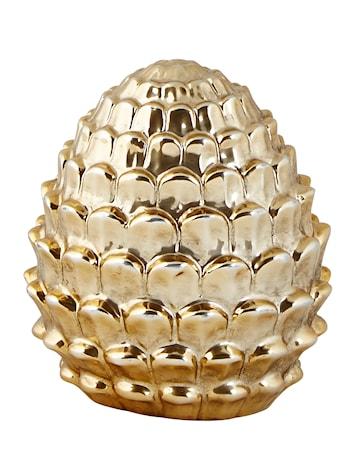 KJ Collection Figur Google Keramik Guld 11 cm