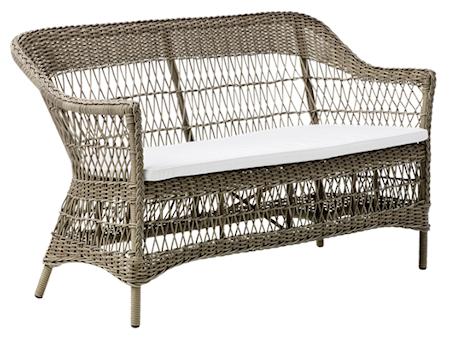 Sika Design Charlot 2-sits soffa - Antique, inkl vit dyna