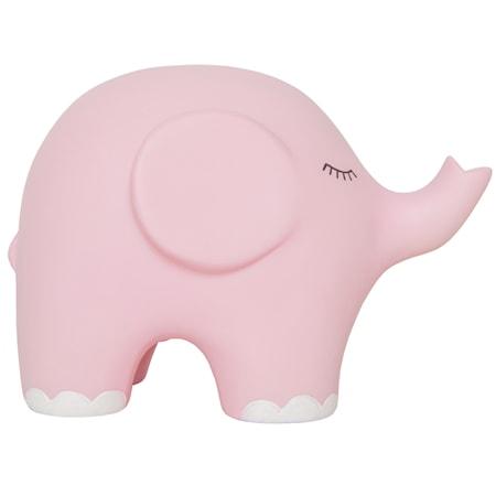 Nattlampa elefant rosa