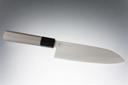 Satake Hi-Tech Keraaminen Kokkiveitsi 15,5 cm valkoinen