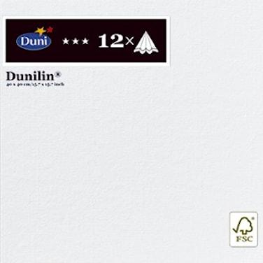 Servetter 40x40 cm Dunillin Vit 12 st