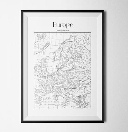 Bilde av Konstgaraget Map europe poster