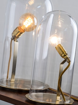 Ebb & Flow Speak up dome small transparent bordslampa ? Brass