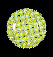 Assiett Melamin Blommor 20 cm