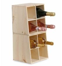 Cantinetta 4/8 bt- Presentlåda för 4 flaskor + Vinställ för 8 flaskor