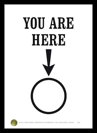 Bilde av TGIOC You are here poster