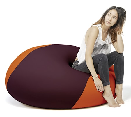 Terapy Ergonomic Living Ollie sittsäck - Aubergine/orange