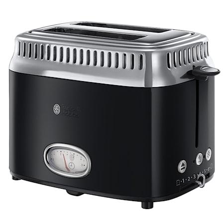 Russell Hobbs Toaster Retro Classic Noir 21681-56 2 Scheiben 6 Stufen 1300 W