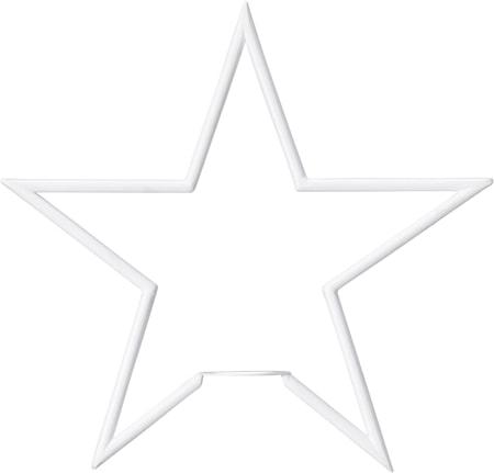 Tindra Stjärna Matt Vit 35cm