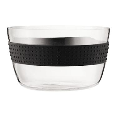 Pavina Salladsskål Glas 22 cm Svart