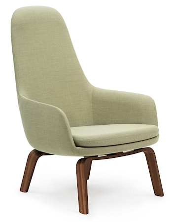 Normann Copenhagen Era Lounge Chair High Walnut Breeze Fusion