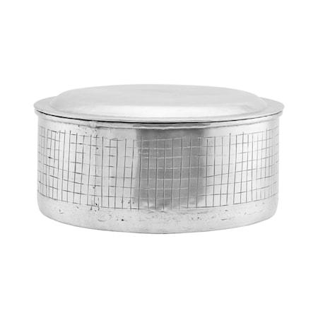 Förvaring med lock, Noova, Silver h: 12 cm