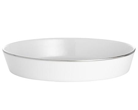 Pillivuyt Bistro vati soikea valkoinen/hopea 31 cm