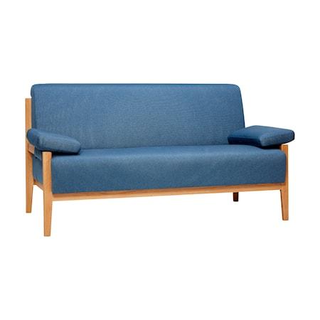 Hübsch Oak legs 2-sits soffa