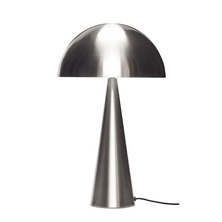 Bordslampa Metall Nickel 51 cm