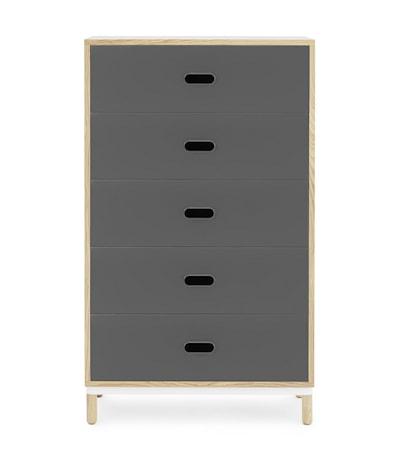 Normann Copenhagen Kabino 5 drawers byrå Grå