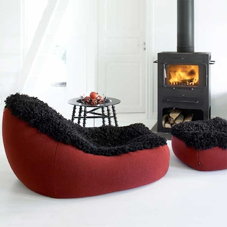 Skandilock Groovy Beanbag Large - Black/Red