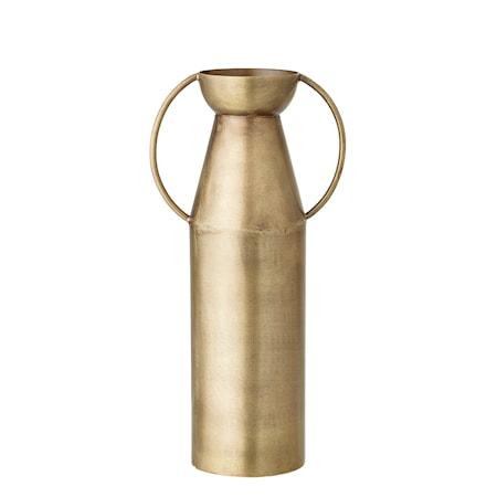 Vas med Handtag Mässing Metall 24cm