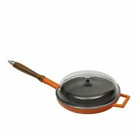 Lava Paistinpannu puukahva lasikansi Orange 28 cm