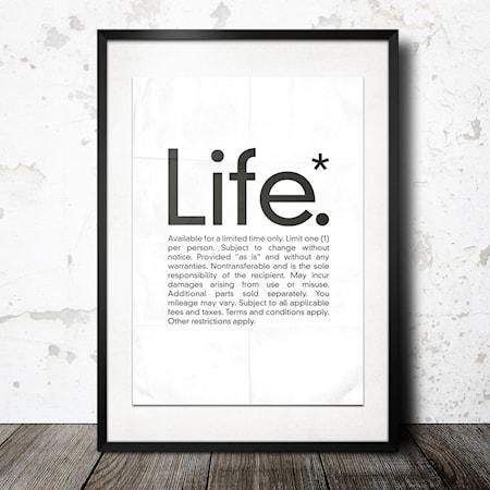 Bilde av Konstgaraget life poster