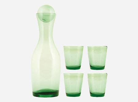 Set Houston Karaff + 4 glas Grön