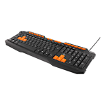 824581 Deltaco gaming tangentbord anti-ghosting USB nordisk layout svart-orange