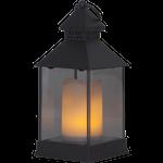 825073 Lykta flame lantern 25cm hög med timer