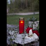 824569 LED gravljus Serene röd 21cm hög med timer