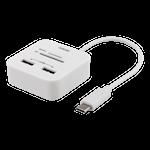 823985 Deltaco USB-C till USB-A-hub med SD-kortläsare