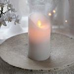 821618 Vaxljus Twinkle LED 15cm med timer vit
