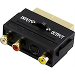 823703 Deltaco adapter RCA video och S-video till SCART hane