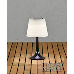822439 Konstsmide Assisi bordlampa solcell LED svart
