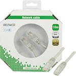 821232 Deltaco Nätverkskabel Cat6 10m, grå