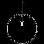 824535 Hängande dekoration Rundhult 55cm krom E27