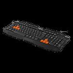 824575 Deltaco Gaming tangentbord 105 tangenter nordisk layout USB och PS2